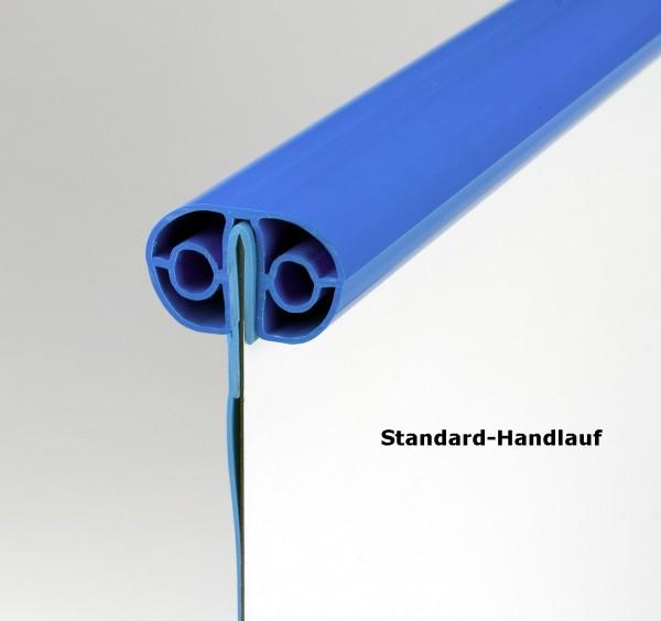 Komplettset Pool oval 5x11x1,50; 0,8mm Folie blau