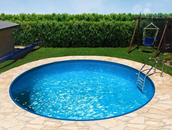 Pool Set conZero + Rundpool, blau / sand / grau